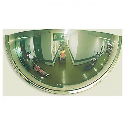 3 Way View Half Dome Wall Mirror 80cm - Panoramic 180 degree view