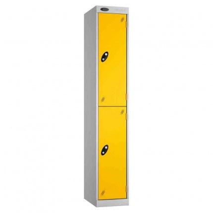 Probe Expressbox 2 Door Locker Key Locking Yellow