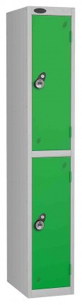 Probe 2 Door Combination Locking High Metal Locker green