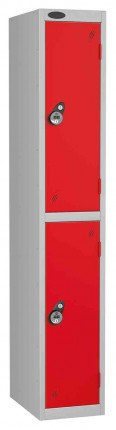 Probe 2 Door Combination Locking High Metal Locker red
