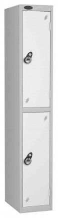 Probe 2 Door Combination Locking High Metal Locker white