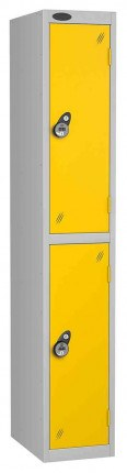 Probe 2 Door Combination Locking High Metal Locker yellow