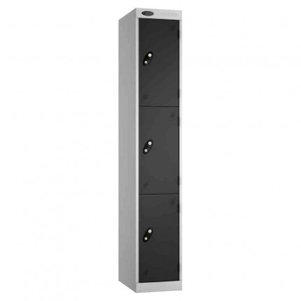 Probe Expressbox 3 Door Locker Key Locking Black