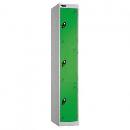 Probe Expressbox 3 Door Locker Key Locking Green