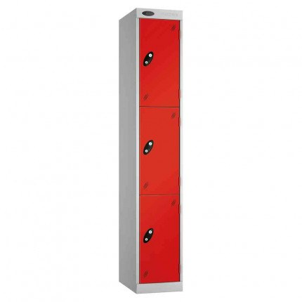 Probe Expressbox 3 Door Locker Key Locking Red