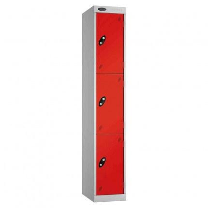 Probe Expressbox 3 Door Locker Padlock Hasp Red
