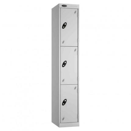 Probe Expressbox 3 Door Locker Key Locking Grey