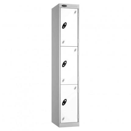 Probe Expressbox 3 Door Locker Key Locking White