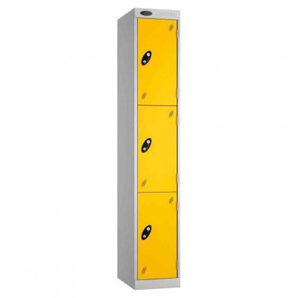 Probe Expressbox 3 Door Locker Key Locking Yellow