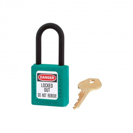 Lock-out Non-Conductive Padlock- Master Lock Zenex 406 TEAL