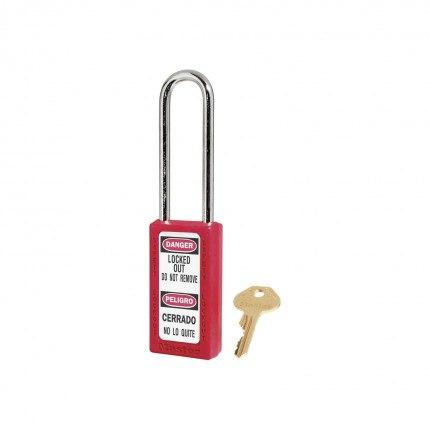 Lock-out Safety Padlock 6mm - Master Lock Zenex 411LT - Red