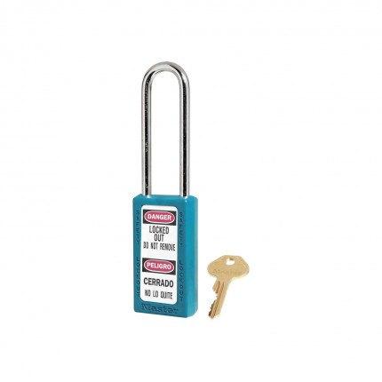 Lock-out Safety Padlock 6mm - Master Lock Zenex 411LT - Teal