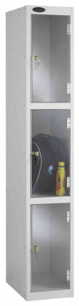 Probe 3 Door Padlock Clear Vision Anti-Theft Locker Clear Vision Anti-Theft Locker offering 100% visibility