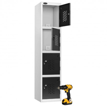 Probe Recharge4 Power Tool Charging Electronic Locker - Black