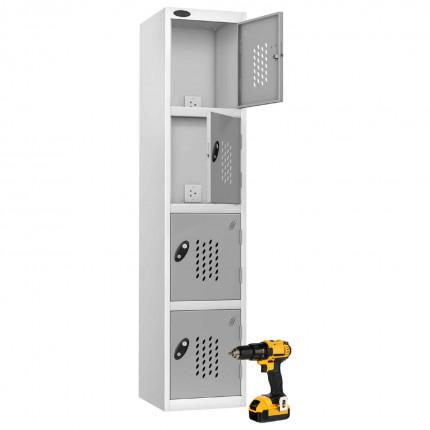 Probe Recharge4 Power Tool Charging Electronic Locker - Silver Grey