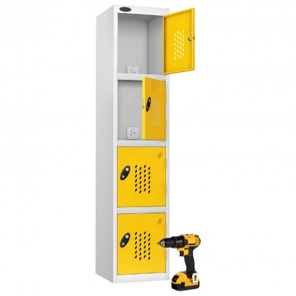Probe Recharge4 Power Tool Charging Electronic Locker - Yellow