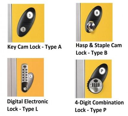 Probe Laminate Inset Door Locker Locking Options