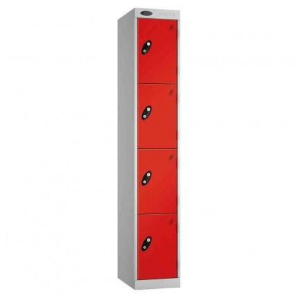 Probe Expressbox 4 Door Locker Key Locking Red
