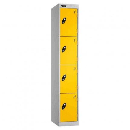 Probe Expressbox 4 Door Locker Key Locking Yellow