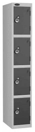 Probe 4 Door Combination Locking High Metal Locker black