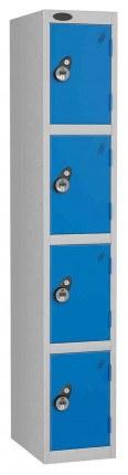 Probe 4 Door Combination Locking High Metal Locker blue