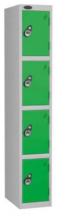 Probe 4 Door Combination Locking High Metal Locker green