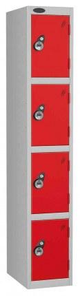 Probe 4 Door Combination Locking High Metal Locker red