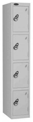 Probe 4 Door Combination Locking High Metal Locker silver grey