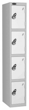 Probe 4 Door Combination Locking High Metal Locker white