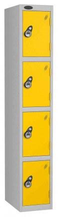 Probe 4 Door Combination Locking High Metal Locker yellow