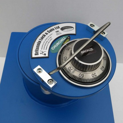"Churchill CS004 9"" Round Door Silver Floor Safe £6000 - Dial Combination lock"