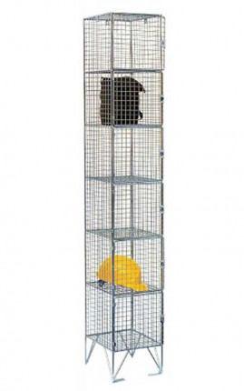 Bright Zinc Wire Mesh Locker 6 Door 305x305 Single