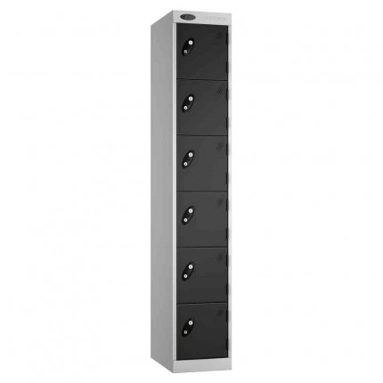 Probe Expressbox 6 Door Locker Key Locking Black