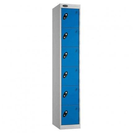 Probe Expressbox 6 Door Locker Key Locking Blue