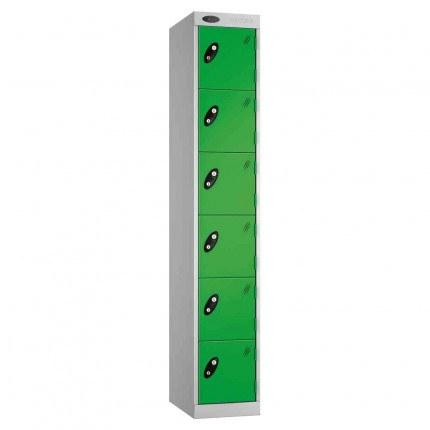 Probe Expressbox 6 Door Locker Key Locking Green