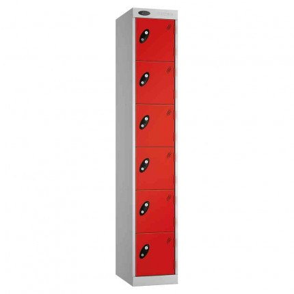 Probe Expressbox 6 Door Locker Key Locking Red