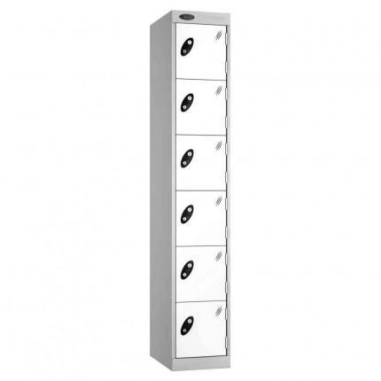 Probe Expressbox 6 Door Locker Key Locking White