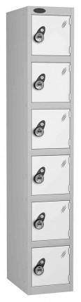 Probe 6 Door Combination Locking High Metal Locker white