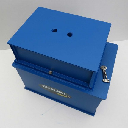 Churchill CS013 Gas Strut Silver Large Floor Safe £6000 - Dust cover fitted