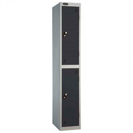 Probe 2 Door High Steel Storage Locker Key Lock - black door