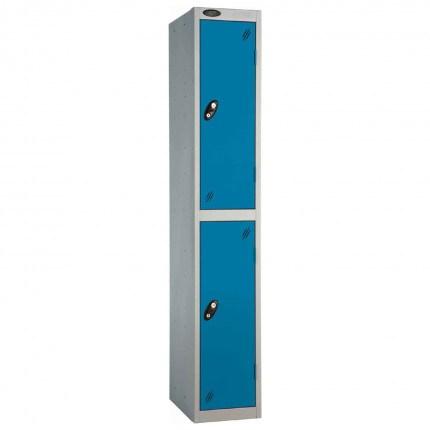 Probe 2 Door High Steel Storage Locker Padlock Hasp Lock - blue door