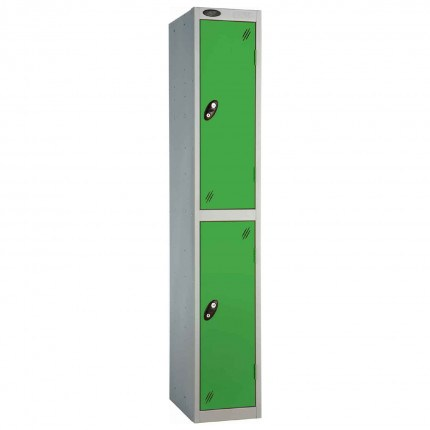 Probe 2 Door High Steel Storage Locker Key Lock - green door