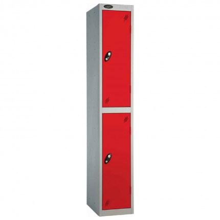 Probe 2 Door High Steel Storage Locker Padlock Hasp Lock - red door