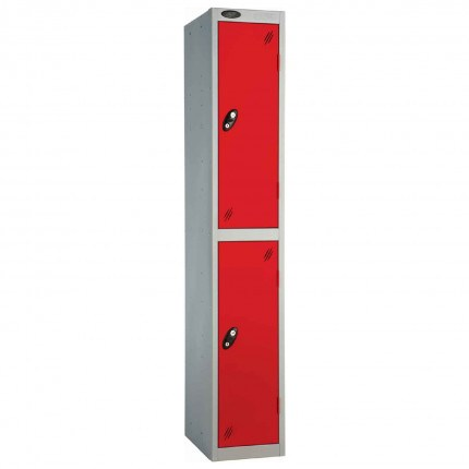 Probe 2 Door High Metal Locker Type P Combination Lock red