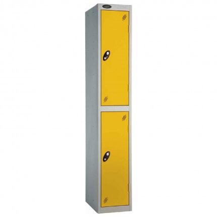 Probe 2 Door High Steel Storage Locker Key Lock - yellow door