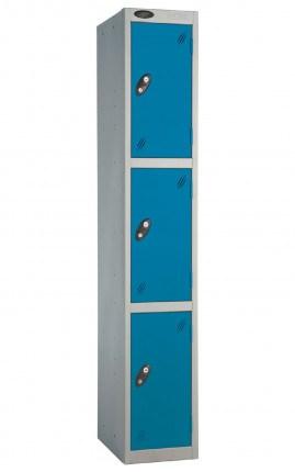 Probe 3 Door Locker 1780mm high blue doors and silver body