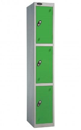 Probe 3 Door Locker 1780mm high green doors and silver body