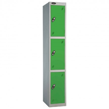 Probe 3 Door High Metal Locker Type L Electronic Lock Green