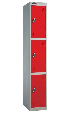 Probe 3 Door Back Pack Size Storage Locker Key Lock red doors and silver body