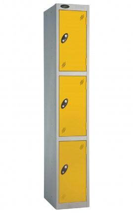 Probe 3 Door Locker 1780mm high yellow doors and silver body